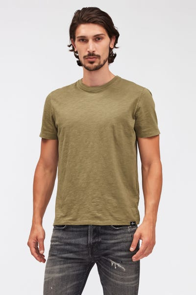 T-SHIRT SLUB LIGHT ARMY