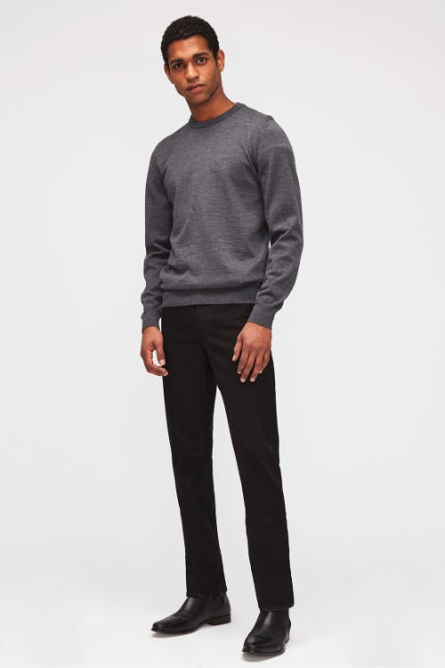7 For All Mankind - Slimmy Luxe Performance Rinse Black