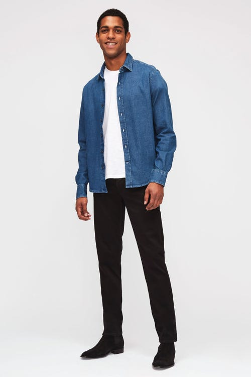 7 For All Mankind - Slimmy Tapered Luxe Performance Plus Black