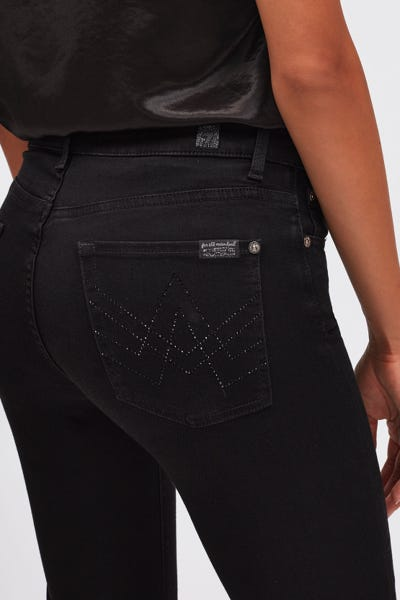 BOOTCUT B(AIR) RINSED BLACK WITH EMBELLISHED A POCKET