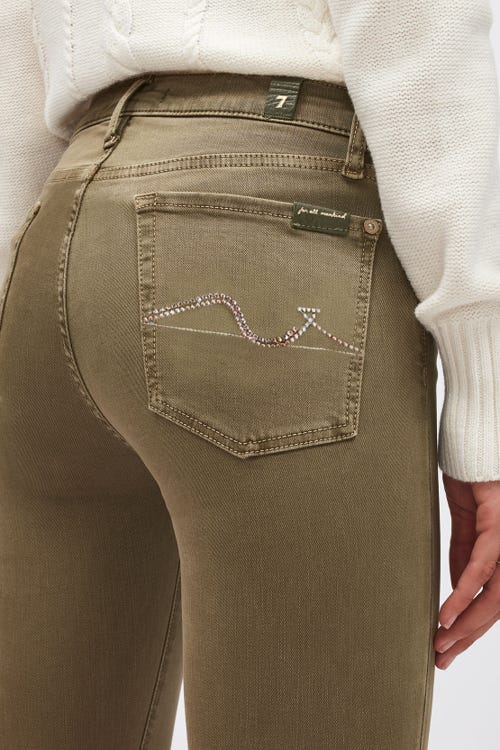 THE SKINNY COLORED SLIM ILLUSION ALOE WITH EMBELLISHED SQUIGGLE