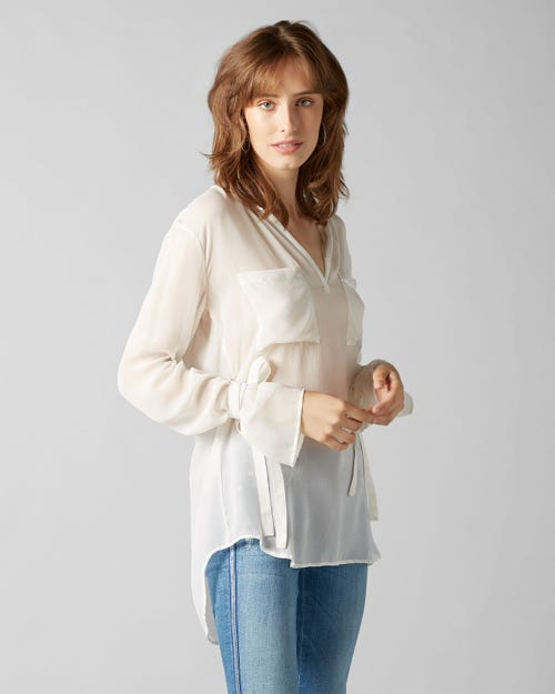 7 For All Mankind - Blouse Silk Off White