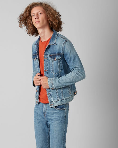 TRUCKER JACKET SELVEDGE VITALIZED LIGHT BLUE