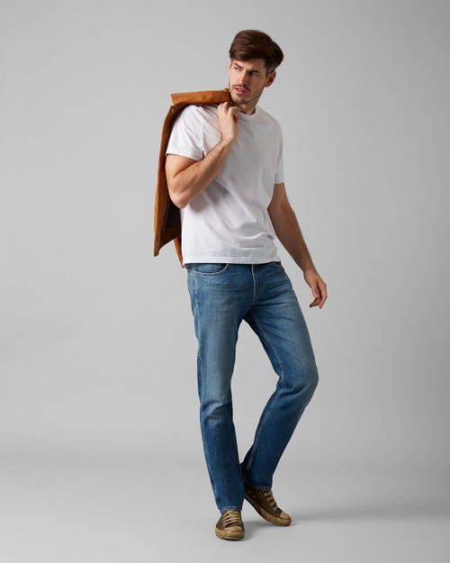 7 For All Mankind - Slimmy Broadway Mid Blue