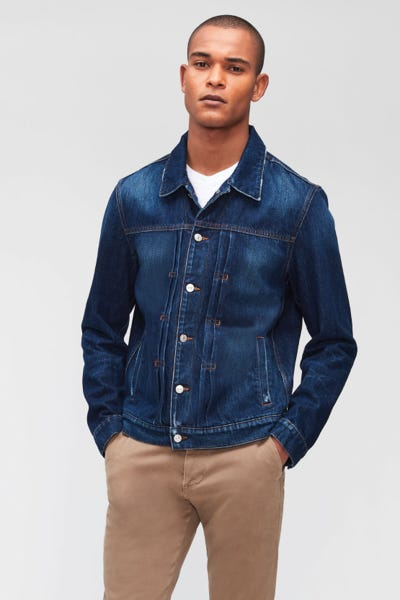 TRUCKER PLEATED JACKET ANY TIME