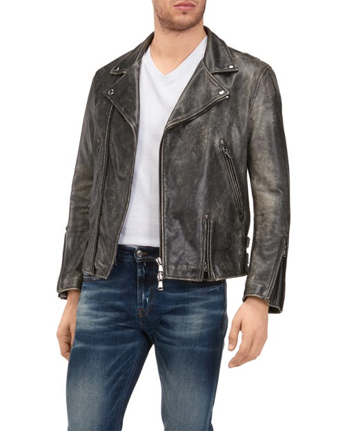 7 For All Mankind - Perfecto Leather Grey