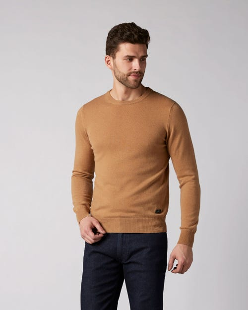 7 For All Mankind - Crew Neck Knit Cashmere Camel