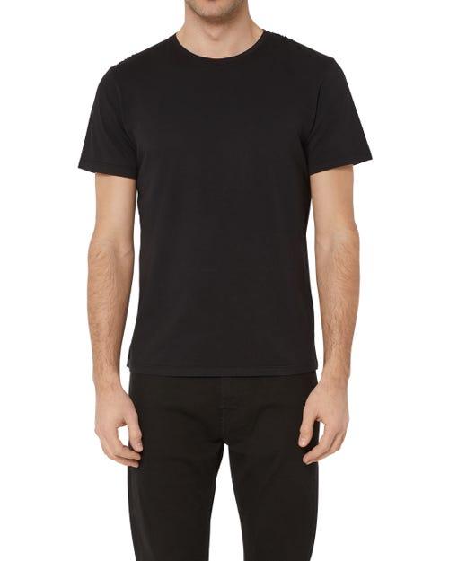T-SHIRT COTTON BLACK WITH BLACK