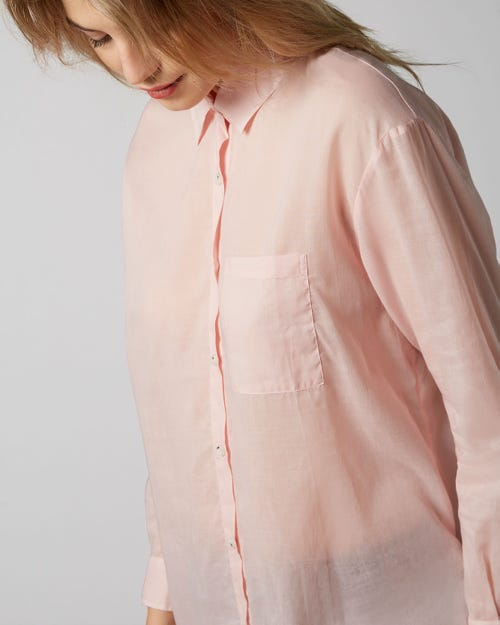 7 For All Mankind - Oversize Shirt Voile Pale Pink