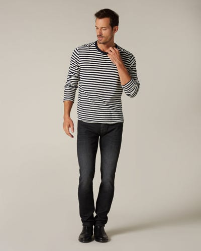 RONNIE CASHMERE DENIM WASHED BLACK