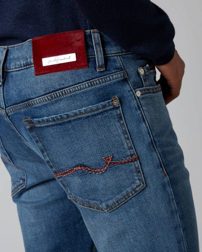 7 For All Mankind - Ronnie Special Edition Hanwell Light Blue With Emb Red Label