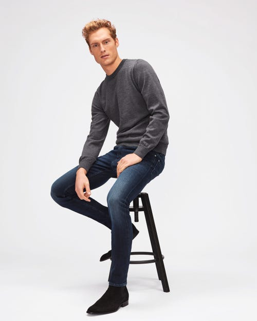 7 For All Mankind - Ronnie Luxe Performance Huntley Dark Blue