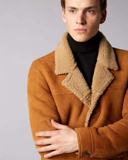 7 For All Mankind - Shearling Jacket Shearling Tobacco