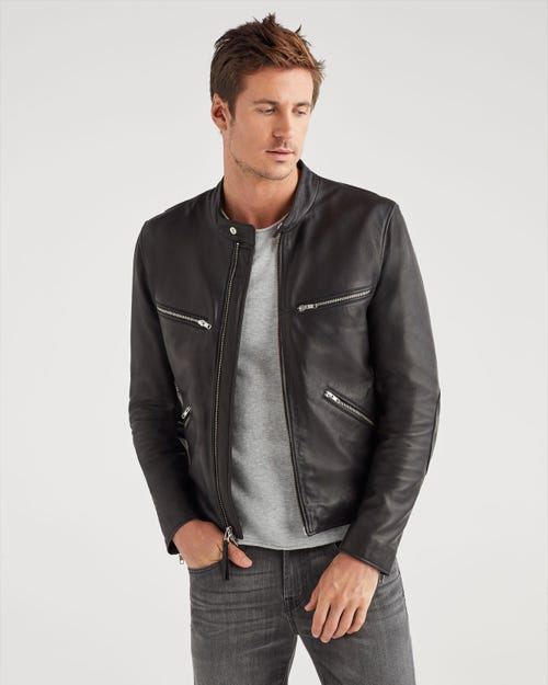 CAFÉ RACER LEATHER BLACK