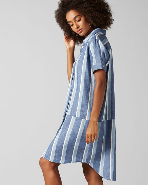 7 for all Mankind - OVERSHIRT STRIPES