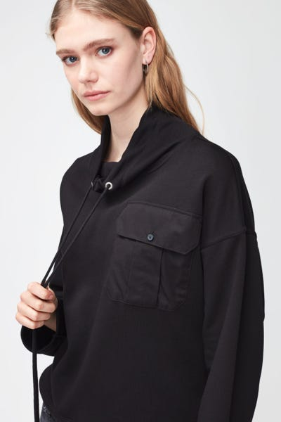 UTILITY SWEATSHIRT COTTON  BLACK