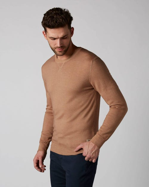 7 For All Mankind - Crew Neck Knit Wool Merino Beige