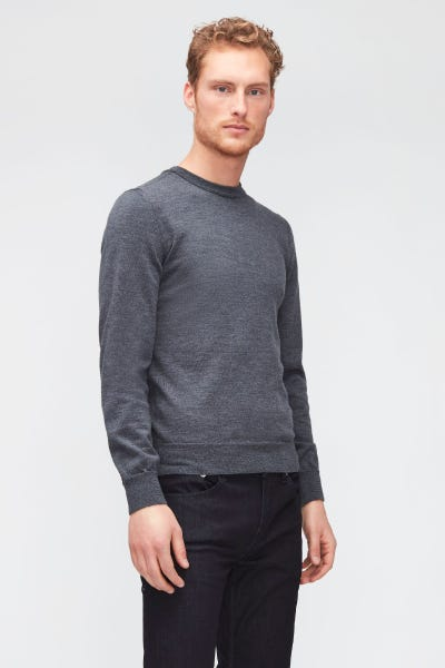 CREW NECK KNIT MERINO GREY