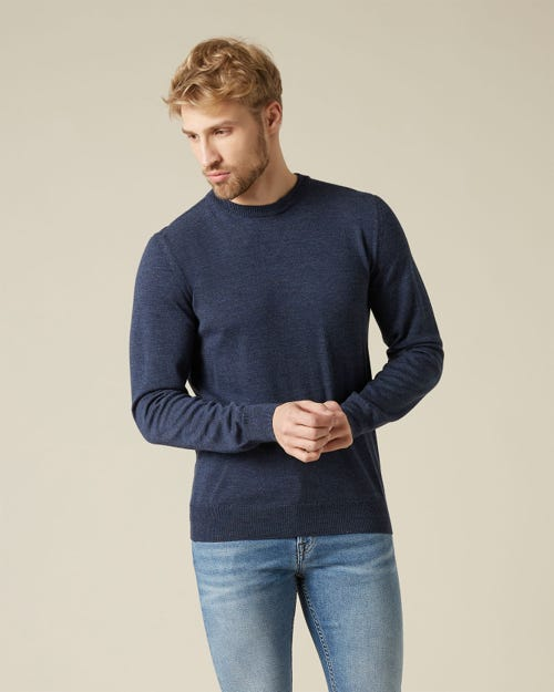 CREW NECK KNIT MERINO NAVY