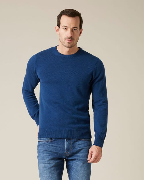 CREW NECK KNIT CASHMERE NIGHT BLUE