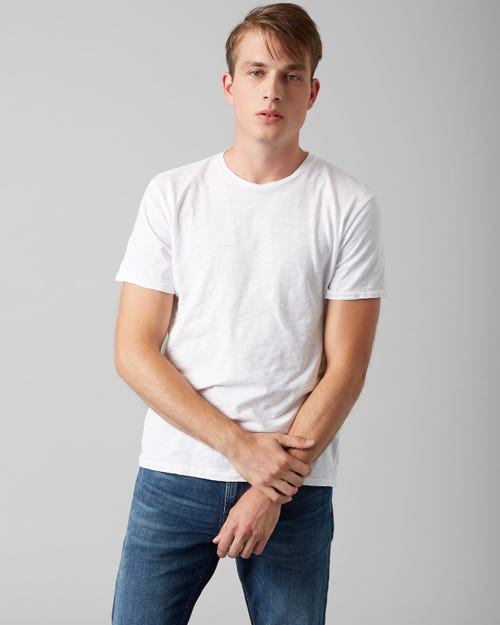7 For All Mankind - T-Shirt Slub Salt White