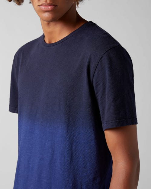 T-SHIRT SLUB FADE NAVY BLUE