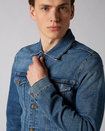 7 For All Mankind - Trucker Jacket Hanwell Light Blue