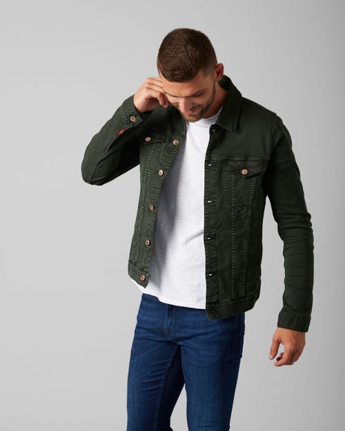 TRUCKER JACKET AMERICAN COLORS AVOCADO GREEN