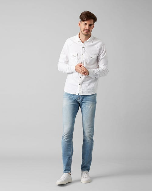 7 For All Mankind - Larry Left Hand Cotillo Light Blue
