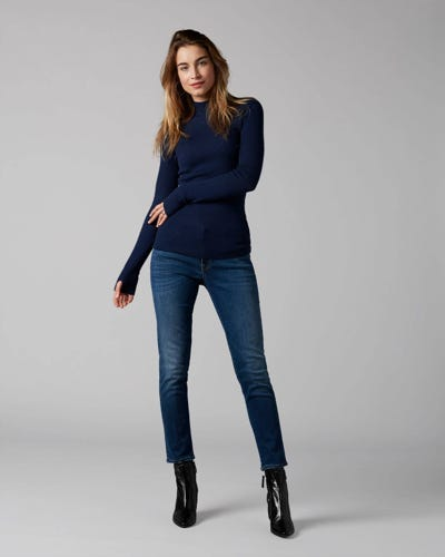7 For All Mankind - Pyper Crop Slim Illusion Old Song