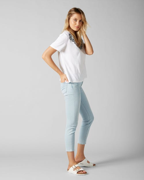 7 For All Mankind - Mid Rise Roxanne Crop Slim Illusion San Clamente