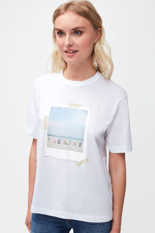 GRAPHIC TEE CUTIL W/EMBROIDERY WHITE