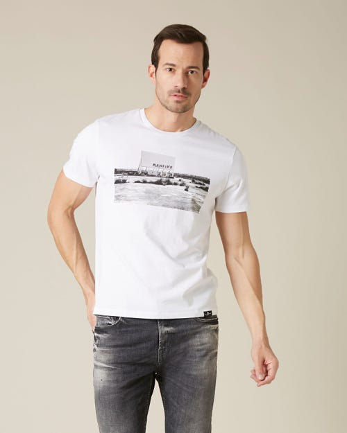 GRAPHIC TEE COTTON DESERT WHITE