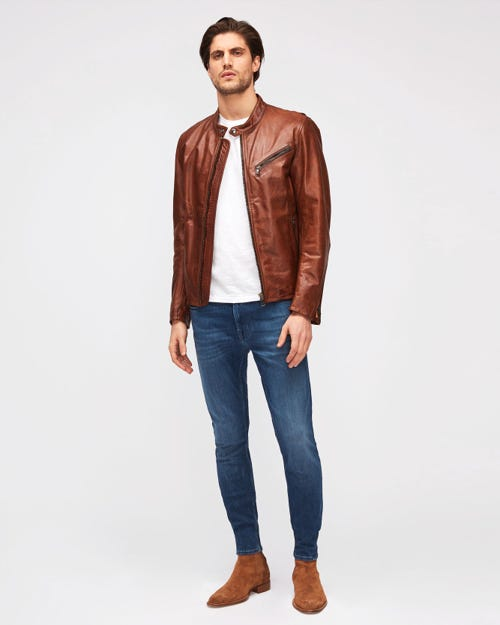 7 For All Mankind - Ronnie Tapered Luxe Performance Plus Mid Blue