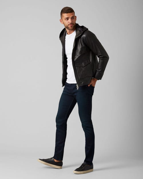 7 For All Mankind - Slimmy Tapered Luxe Performance Plus Blue Black