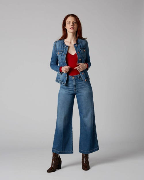 7 For All Mankind - Lotta Cropped Braided