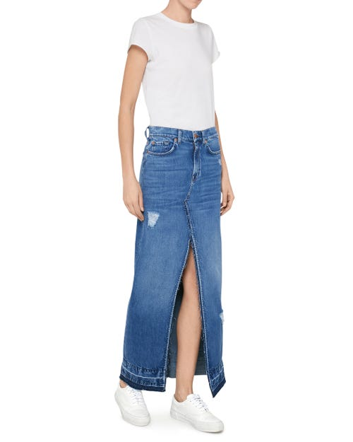 7 For All Mankind - Long Skirt Crush