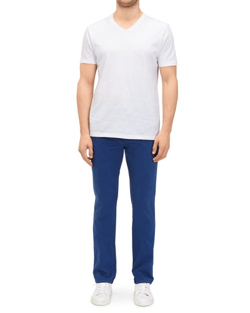 SLIMMY CHINO CASHMERE COLORS PRINT BLUE