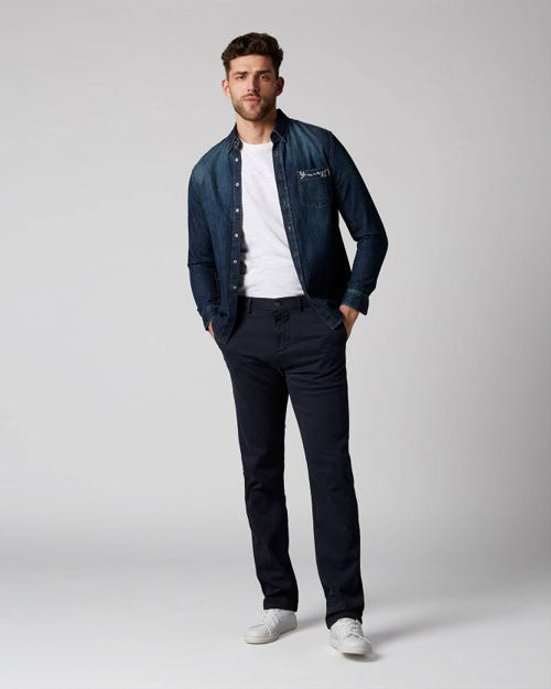 7 For All Mankind - Slimmy Chino Luxe Performance Sateen Navy Navy