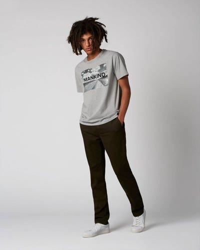 7 For All Mankind - Extra Slim Chino Luxe Performance Sateen Forest Night Dark Army