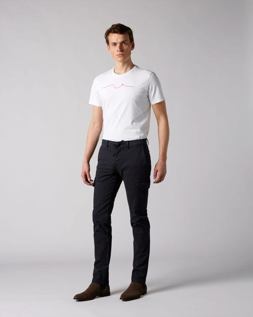 7 For All Mankind - Extra Slim Chino Cargo Washed Compact Twill Navy
