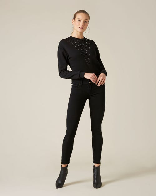THE SKINNY CROP SLIM ILLUSION FAME WITH ZIPS