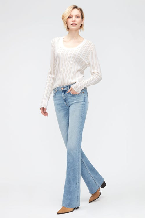 BOOTCUT LUXE VINTAGE BRIGHT SIDE WITH RAW CUT