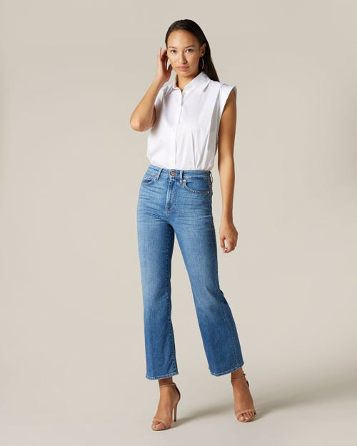 HIGH WAIST VINTAGE CROPPED BOOT LEFT HAND GROVE