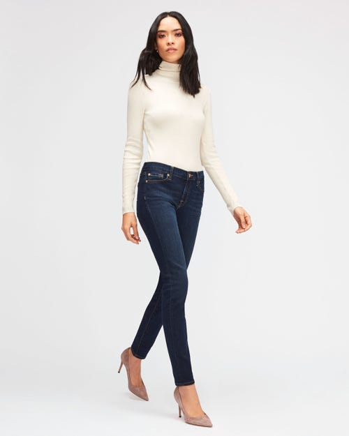 7 For All Mankind - The Skinny B(Air) Rinsed Indigo
