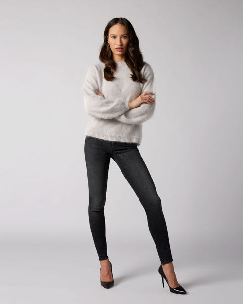 7 For All Mankind - The Skinny Slim Illusion Signal With All Over Glitter