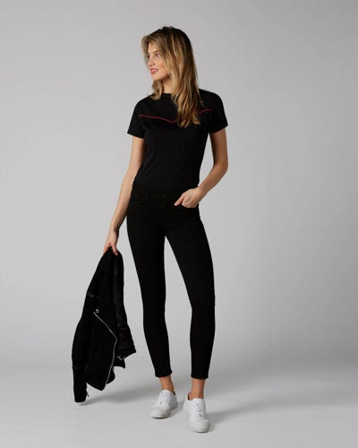 7 For All Mankind - The Skinny Slim Illusion Fame With Braides