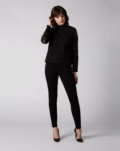 7 For All Mankind - The Skinny Slim Illusion Fame With Embellished Squiggle