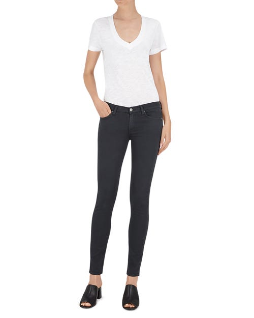 THE SKINNY SATEEN CHARCOAL