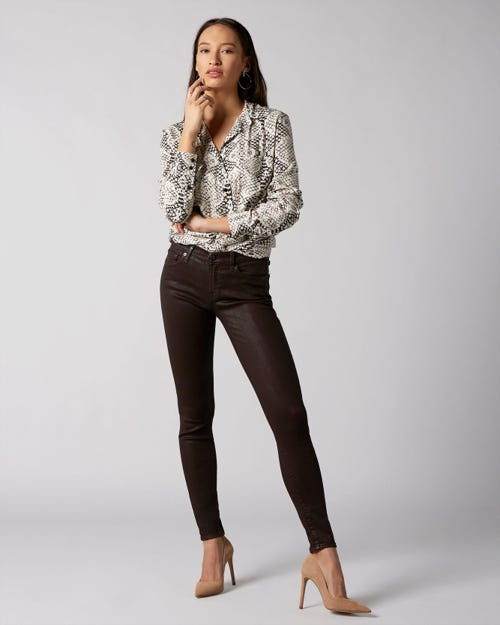 7 For All Mankind - The Skinny Coated Slim Illusion Ruby